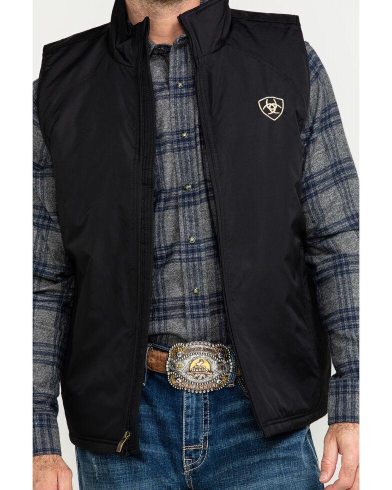 Ariat Men's Solid Team Vest, Black, hi-res