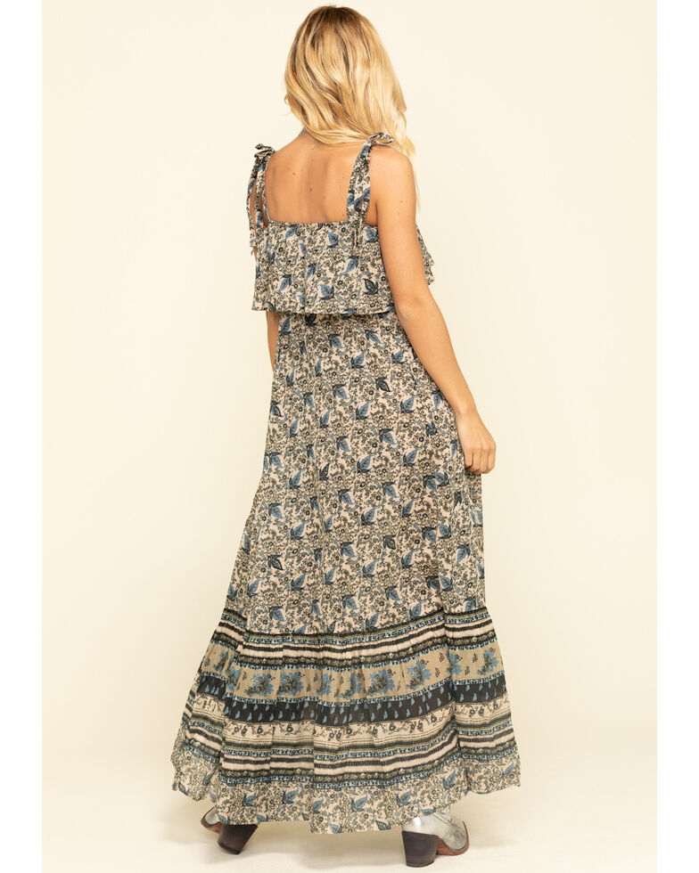 Free People Women's Tangier Babydoll Midi Dress, Natural, hi-res