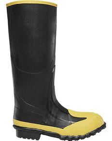 "Lacrosse Men's 16"" Metguard Work Boots - Steel Toe , Black, hi-res"