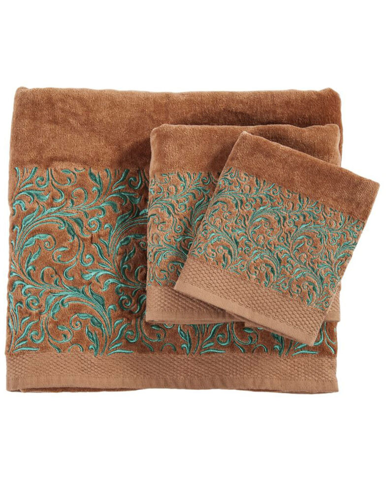 HiEnd Accents Wyatt Embroidered Towel Set - 3 Pieces , , hi-res