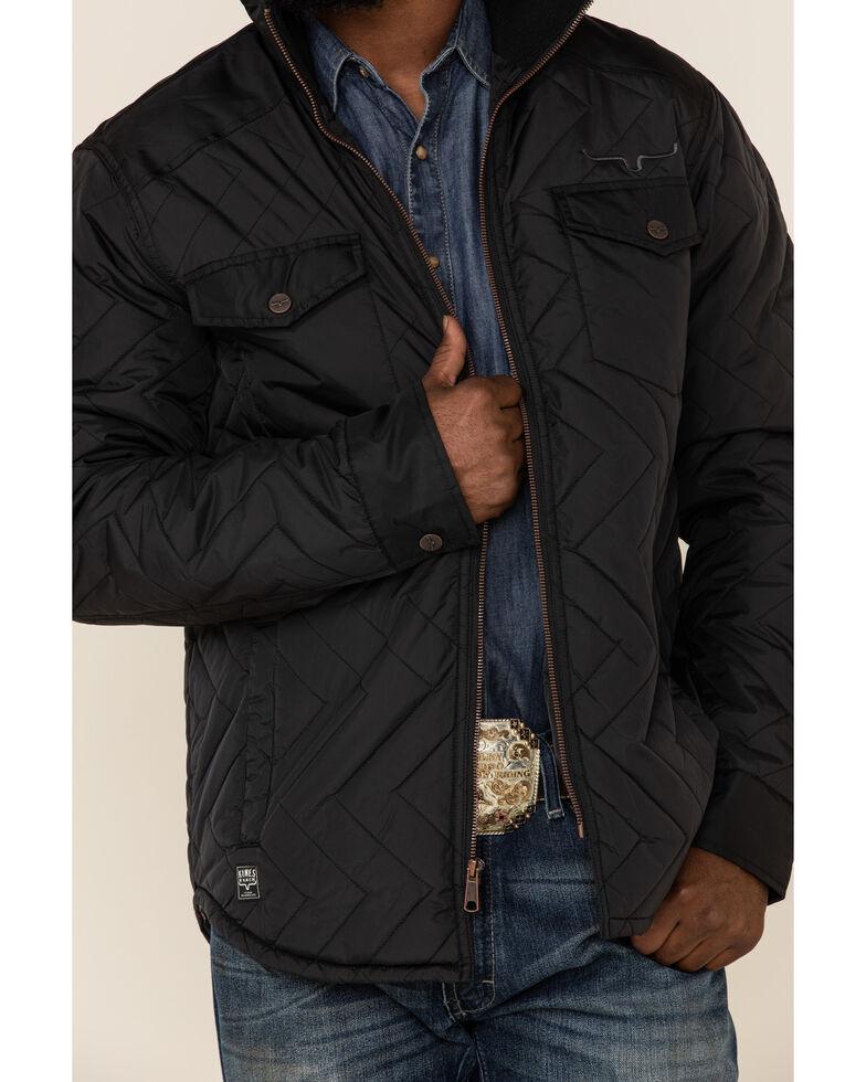 Kimes Ranch Men's Black Skink Quilted Shirt Jacket , Black, hi-res