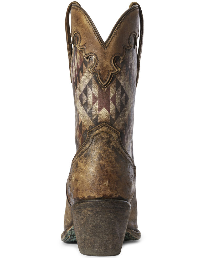 Ariat Women's Gemma Aztec Print Western Boots - Snip Toe, Brown, hi-res