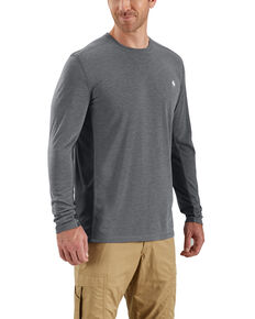 Carhartt Men's Force Extremes Long Sleeve Work T-Shirt - Big , Grey, hi-res