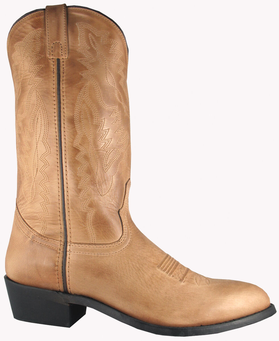 Smoky Mountain Men's Bomber Cowboy Boots - Medium Toe, Tan, hi-res