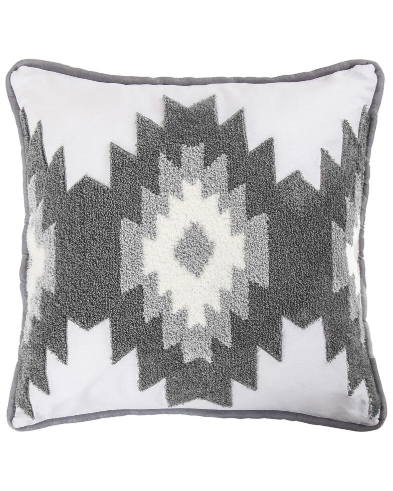 HiEnd Accents Free Spirit Pillow, Grey, hi-res