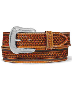 Leegin Men's Brown Ringo Western Belt, Brown, hi-res