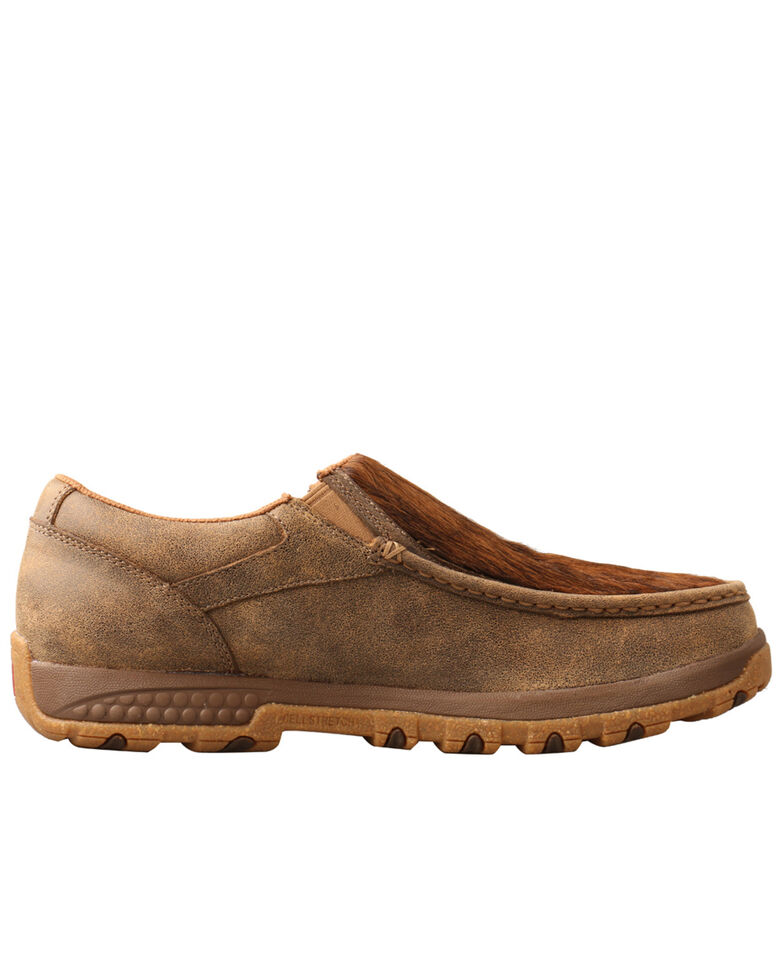 Twisted X Men's Cowhide Brindle Shoes - Moc Toe, Brown, hi-res
