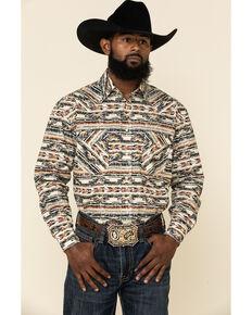 Rough Stock By Panhandle Men's Rio Medio Aztec Print Long Sleeve Western Shirt , Multi, hi-res