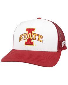 HOOey Men's Red & White Iowa State Logo Mesh Trucker Cap  , White, hi-res