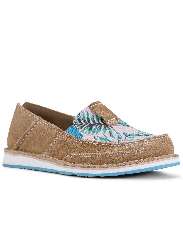 Palm Print Cruiser Shoes - Moc Toe