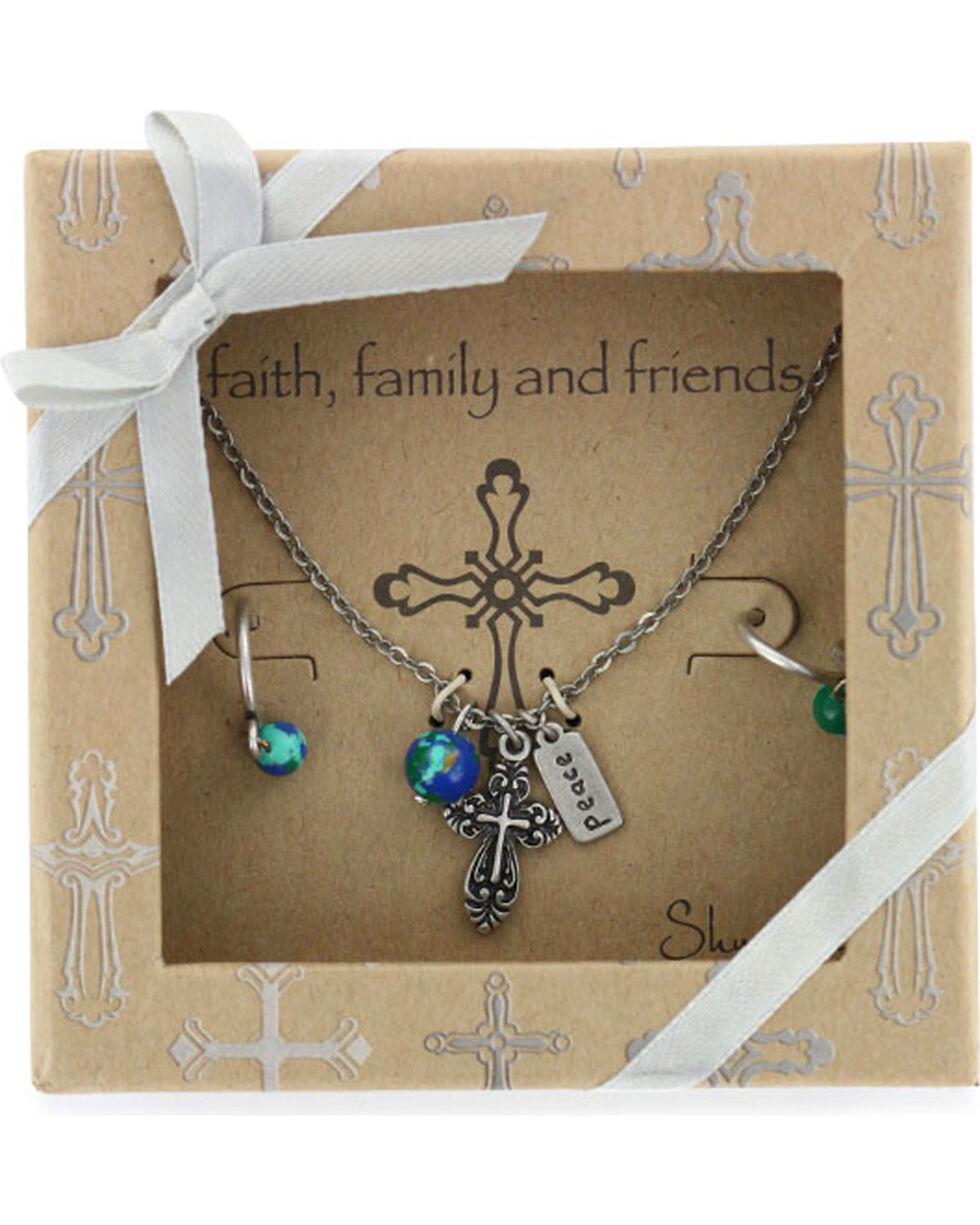 Shyanne Women's Faith Family & Friends Jewelry , Silver, hi-res