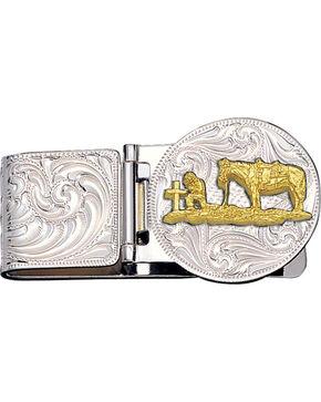Montana Silversmiths Christian Cowboy Hinged Money Clip, Silver, hi-res
