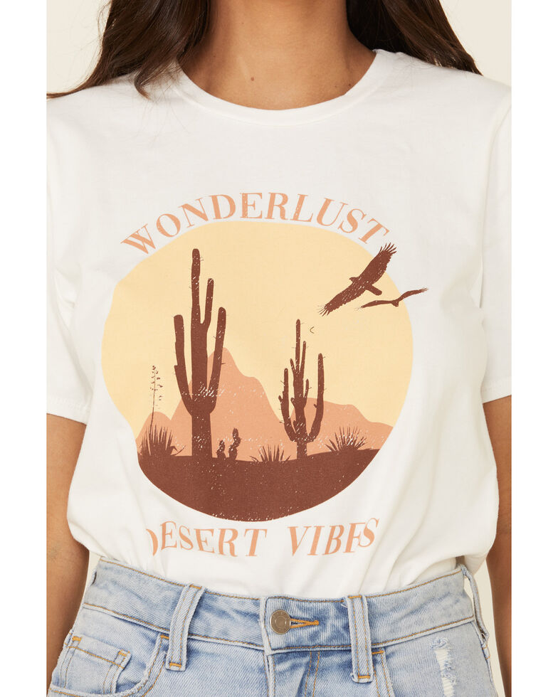Polagram Women's Wonderlust Desert Vibes Graphic Tee , White, hi-res
