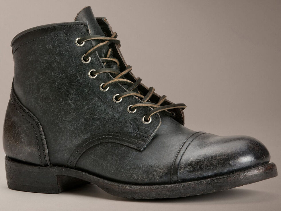 Frye Logan Cap Toe Lace-Up Boots, Black, hi-res