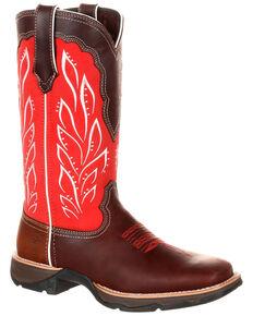 9d8a7310c Durango Women's Lady Rebel Strawberry Sunrise Western Boots - Square Toe