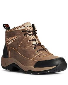 Ariat Women's Terrain Aztec Outdoor Boots - Soft Toe, Brown, hi-res