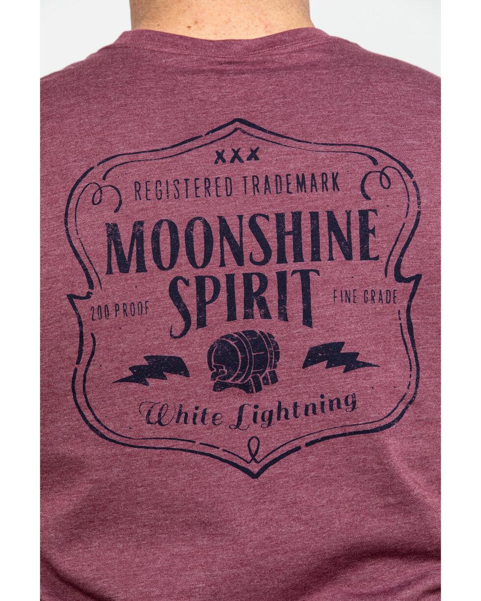 Moonshine Spirit Men's Lightning Barrel Graphic T-Shirt , Burgundy, hi-res
