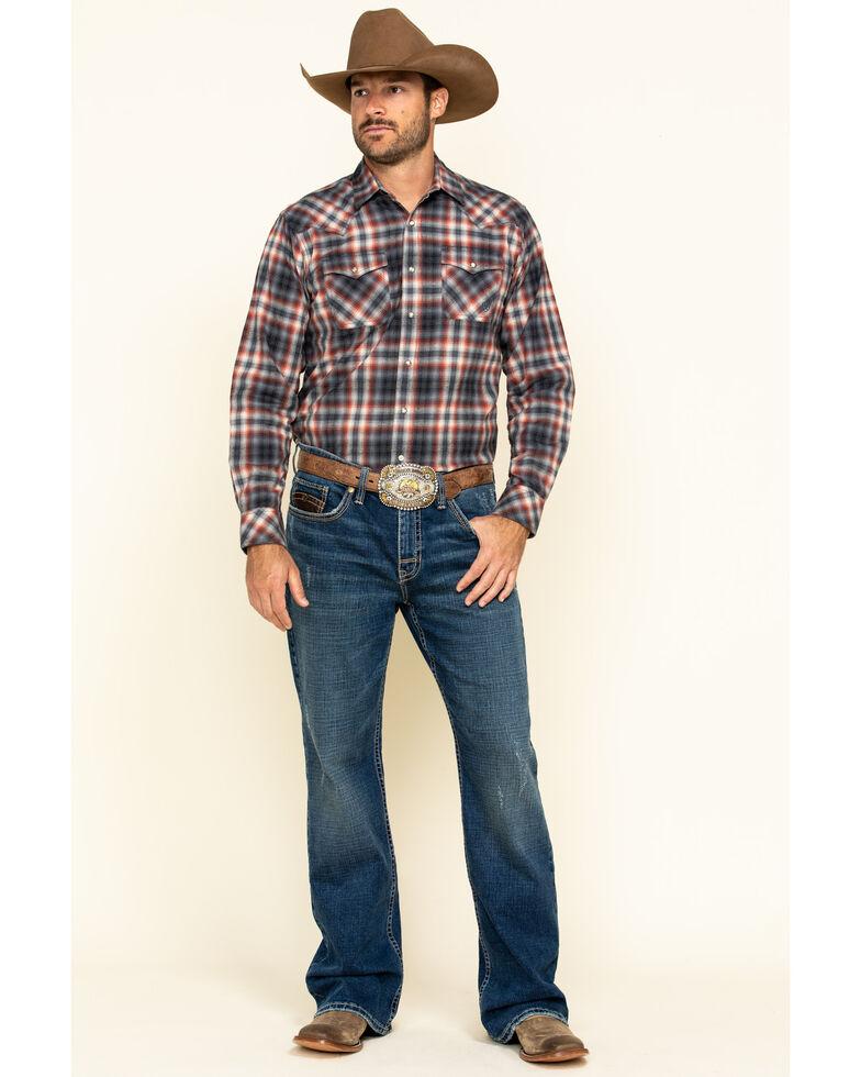 Ariat Men's Kemper Retro Snap Long Sleeve Western Flannel Shirt , Multi, hi-res