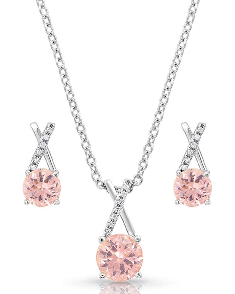 Montana Silversmiths Women's Strong & Beautiful Jewelry Set, Pink, hi-res