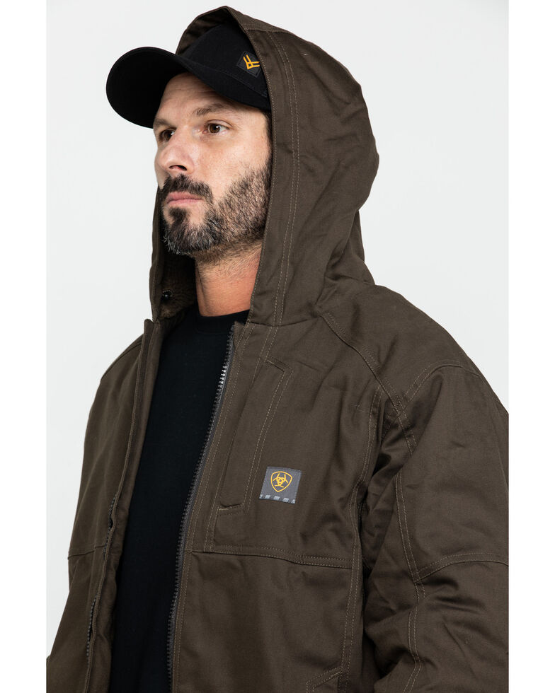 Ariat Men's Rebar Dura Canvas Zip-Front Work Jacket - Big & Tall, Loden, hi-res