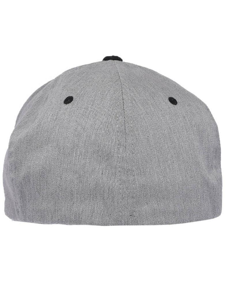 Cinch Men's Grey Raised Circle Logo Patch Flex Fit Cap , Grey, hi-res