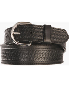 Men's Basketweave Belt - Reg & Big, Black, hi-res