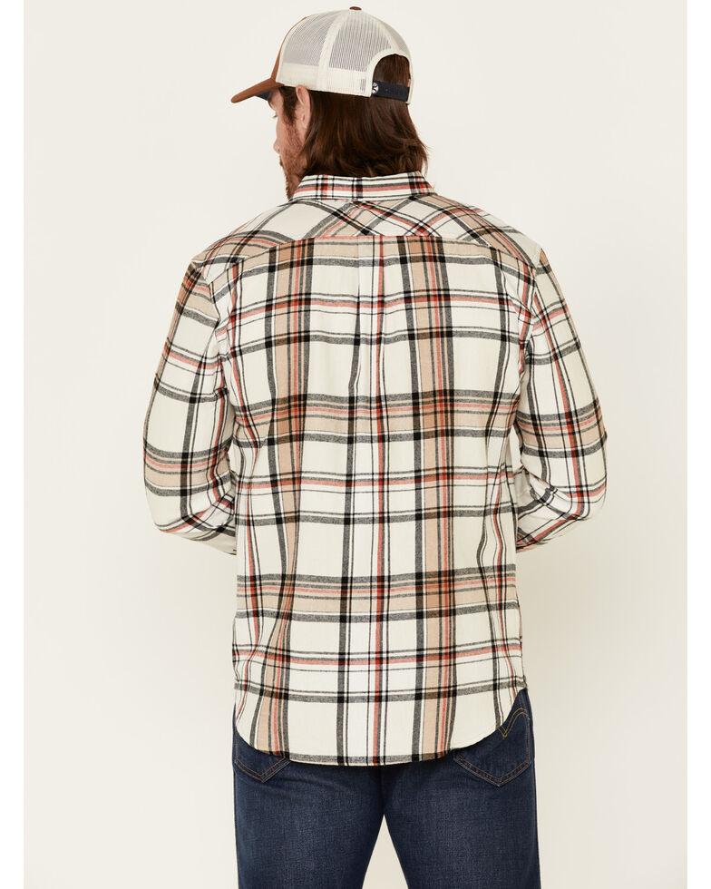 Levi's Men's Cream Saluda Plaid Long Sleeve Button-Down Western Flannel Shirt , Cream, hi-res