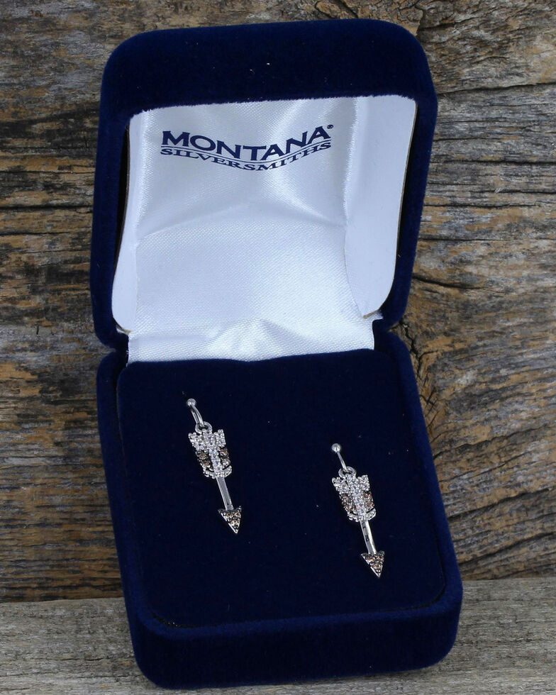 Montana Silversmiths Women's Heaven and Earth Arrow Earrings, Silver, hi-res