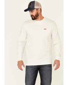 Pendleton Men's Light Heather Tan Deschutes Long Sleeve Pocket T-Shirt , Tan, hi-res