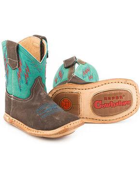 Roper Infant Boys' Cowbaby Lightning Western Boots - Square Toe, Brown, hi-res