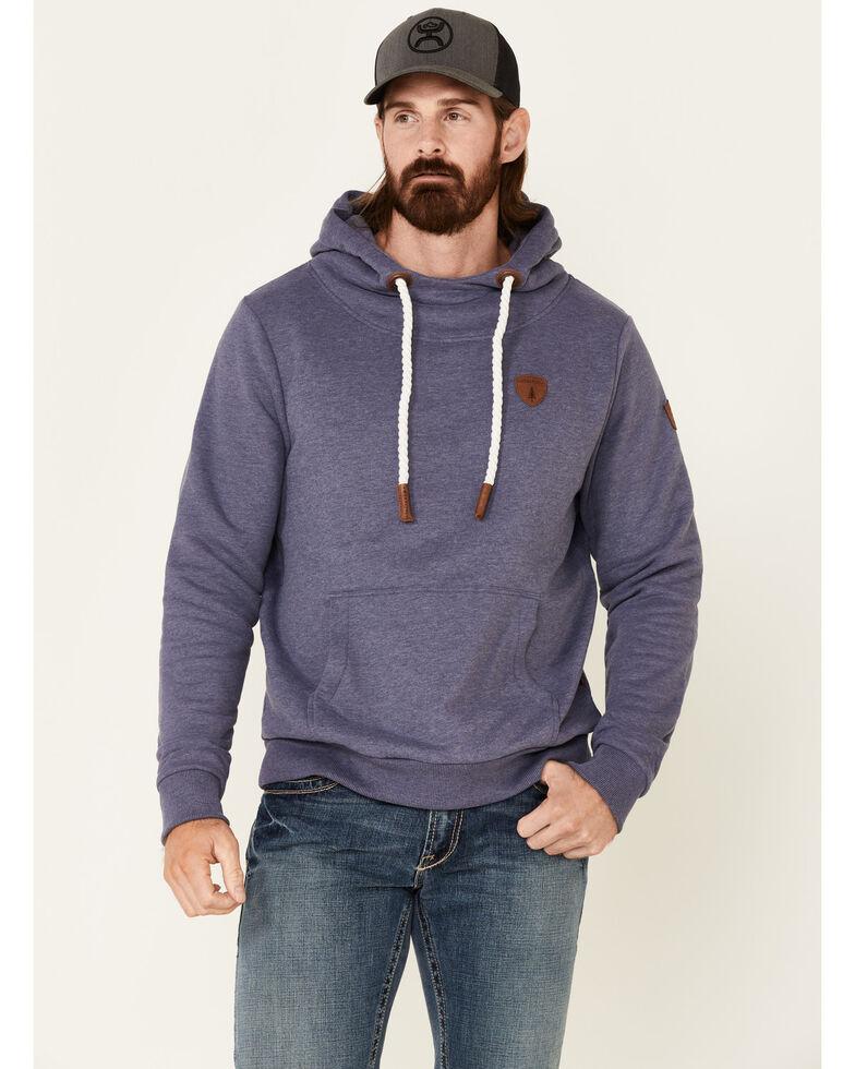 Wanakome Men's Solid Indigo Cascade Pullover Hooded Sweatshirt , Indigo, hi-res