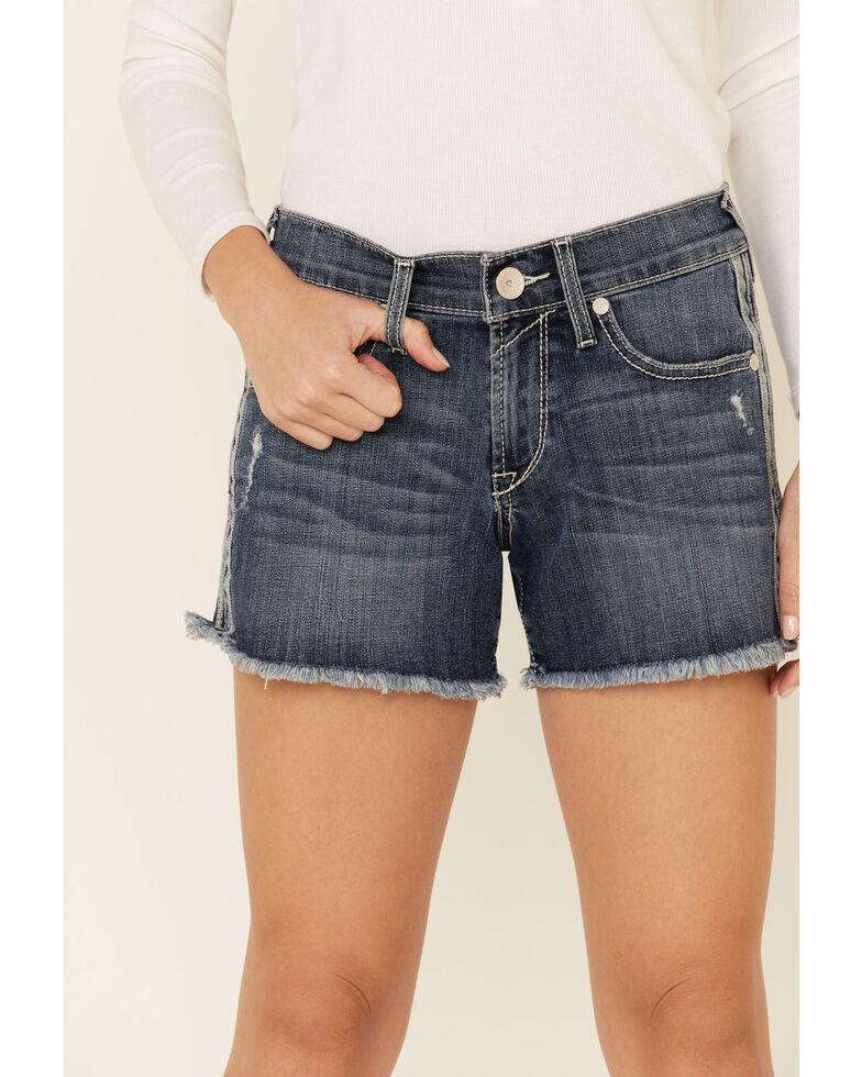 Ariat Women's Striped Boyfriend Shorts, Blue, hi-res