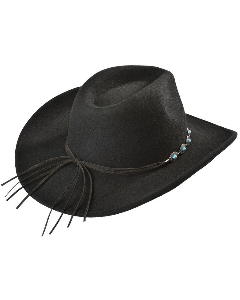 Outback Trading Co. Silverton UPF50 Sun Protection Crushable Hat, Black, hi-res