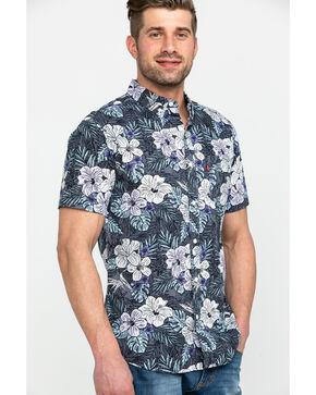 Levis Men's Lembert Hawaiian Print Short Sleeve Western Shirt , Grey, hi-res