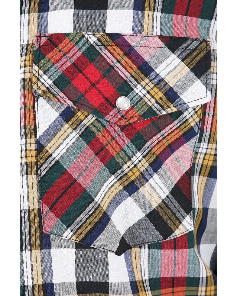 Wrangler Assorted Striped or Plaid Long Sleeve Classic Western Shirt - Big & Tall, Plaid, hi-res