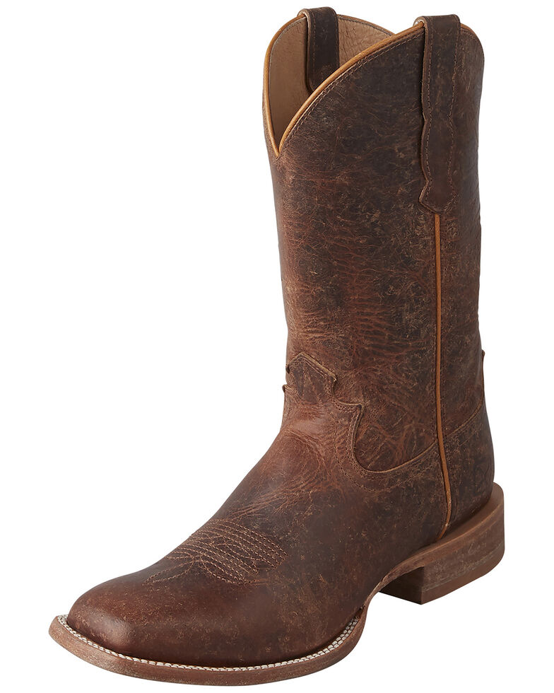 Twisted X Women's Waxy Rancher Western Boot - Wide Square, Brown, hi-res