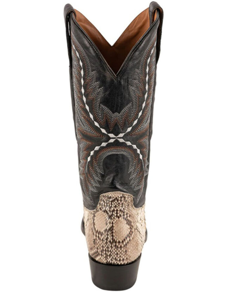 Lucchese Women's Stella Exotic Python Western Boots - Round Toe, Black/white, hi-res