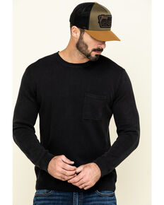 Cody James Men's Homestead Distressed Washed Sweatshirt , Black, hi-res