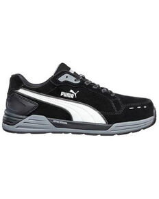 Puma Men's Airtwist Black Work Shoes - Fiberglass Toe, Black, hi-res