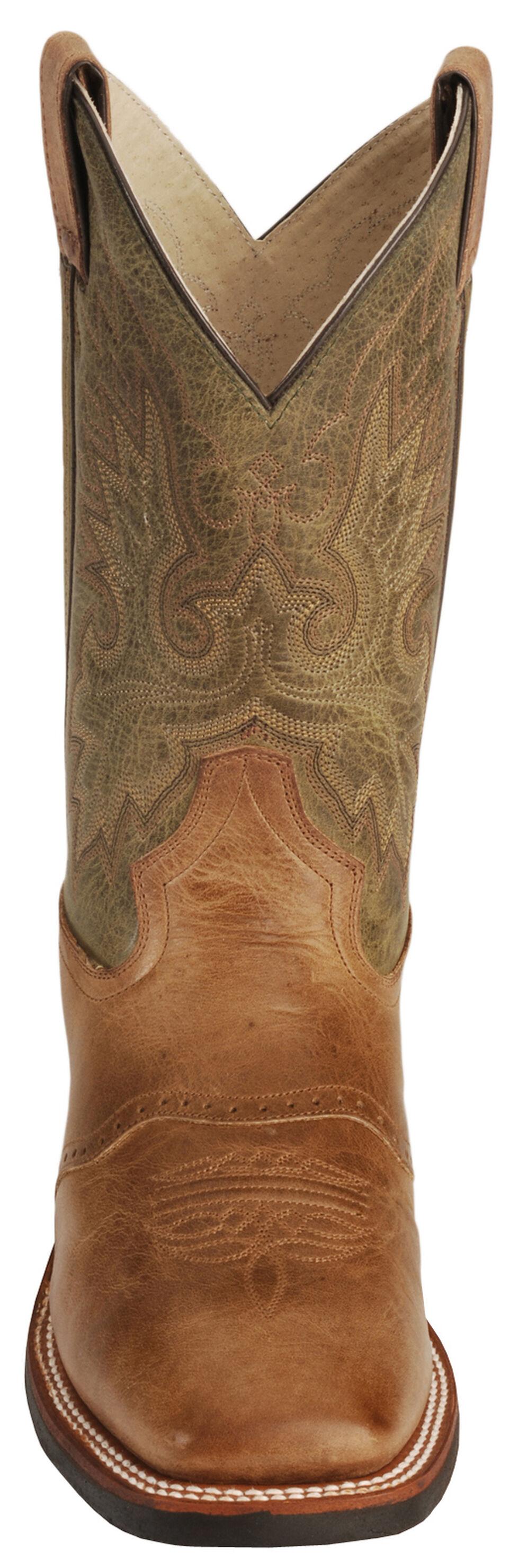 Double H Cognac Roper Cowboy Boots - Wide Square Toe, Cognac, hi-res