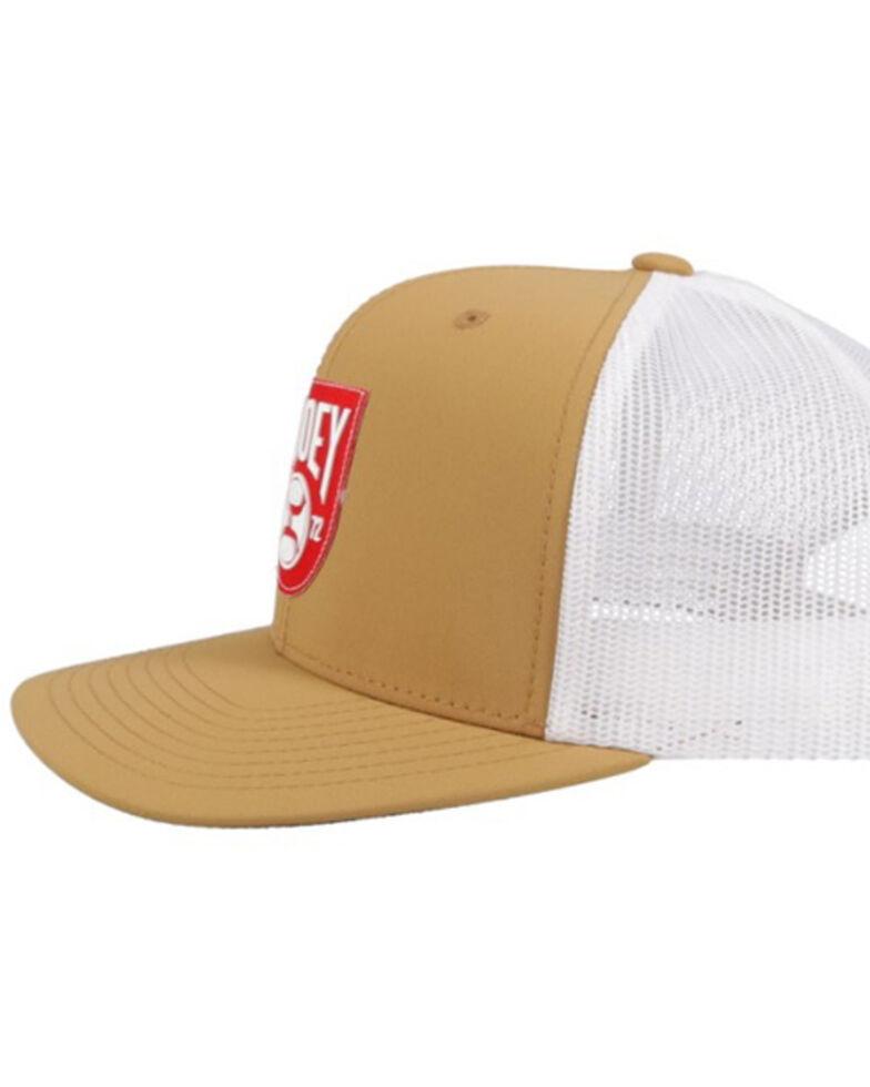 HOOey Men's Tan Bronx Logo Patch Mesh Ball Cap , , hi-res