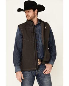Cowboy Hardware Men's Logo Poly Bonded Vest , Brown, hi-res