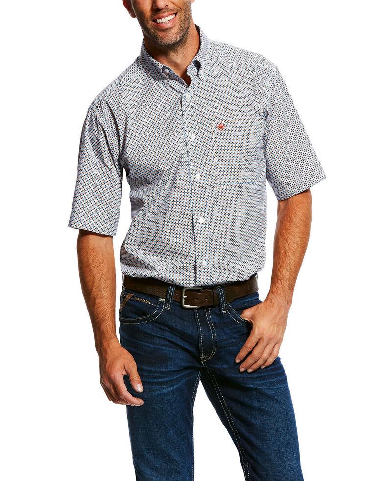 Ariat Men's Nickels Geo Print Short Sleeve Western Shirt , Multi, hi-res