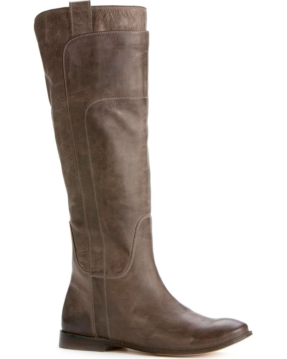 Frye Women's Paige Riding Boots - Round Toe, Grey, hi-res