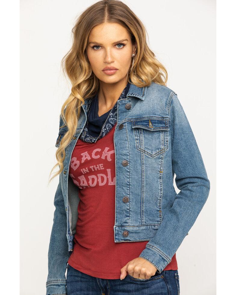 Idyllwind Women's Boss Lady Denim Jacket, Blue, hi-res