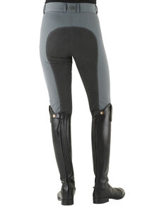 Ovation Women's Celebrity Slim Secret Full Seat Euroweave DX Breeches, Grey, hi-res