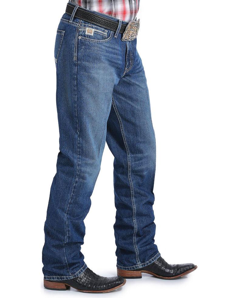 Cinch Men's Sawyer Medium Stonewash Loose Fit Jeans - Boot Cut, Indigo, hi-res