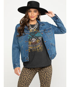 Wrangler Modern Women's Denim Jacket, Indigo, hi-res