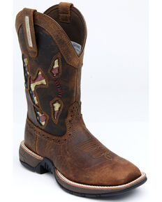 Shyanne Women's Lite Flag Western Boots - Wide Square Toe, Brown, hi-res