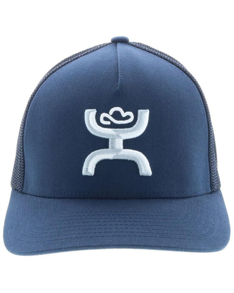 HOOey Men's Navy Coach Flex Fit Mesh Cap , Navy, hi-res